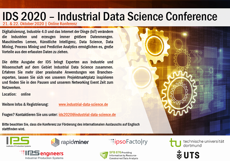 Industrial Data Science Conference 2020